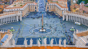 St Peters Square at Vatican City in Rome - aerial view Stock Image