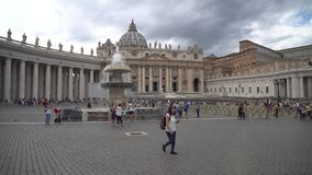 Rome, Italy- 23.06.2018: St Peters Square, Vatican City. St Peters Square, Vatican City stock video