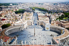 St. Peters Square from Vatican State, in Rome, in  Stock Image