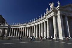St Peters Square, Vaticanen, Europa Royaltyfri Fotografi