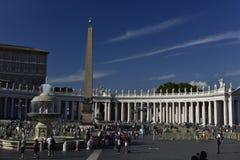St Peters Square, Vaticanen, Europa Arkivbild