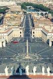 St Peters Square (y Roma) desde arriba, antena del Vaticano Fotos de archivo