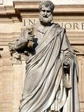 St Peters Statue at the Vatican. Statue of St. Peter by Giuseppe De Fabris, 1840. The statue of St. Peter is iconographically faithful to the noteworthy pictures Stock Photo