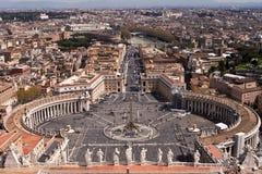 St. Peters Vierkant, Rome. Stock Afbeeldingen