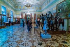 ST PETERSBOURG, RUSSIE - 25 DÉCEMBRE 2016 : Visite de touristes Image stock
