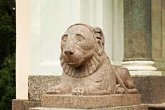 St Petersbourg Russie de palais de Peterhof Lion Photos stock