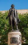 St Petersbourg, Russie - 30 juillet 2017 : Monument à A S Pushkin dans la cour du maison-musée sur Photos stock