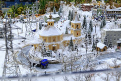 St Petersbourg, Russie - 13 mai 2017 : Fragment grand Maket grand Russie Maket grand Russie modèle du ` s du monde le plus grand Photo libre de droits