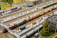 St Petersbourg, Russie - 13 mai 2017 : Fragment grand Maket grand Russie Maket grand Russie modèle du ` s du monde le plus grand Photographie stock