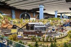 St Petersbourg, Russie - 13 mai 2017 : Fragment grand Maket grand Russie Maket grand Russie modèle du ` s du monde le plus grand Photographie stock libre de droits