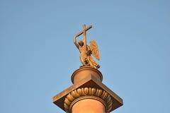 St Petersburg ängel av den Alexandria kolonnen Royaltyfri Bild