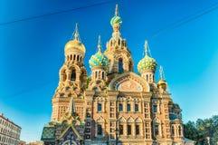 st petersburg России церков крови разленный спасителем Стоковая Фотография