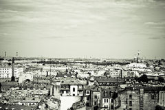 St.Petersburg. View of historic centre of St.Petersburg. Sepia toned Royalty Free Stock Image