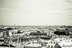 St.Petersburg. View of historic centre of St.Petersburg. Sepia toned Royalty Free Stock Photo