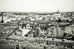 St.Petersburg. View of historic centre of St.Petersburg. Sepia toned Royalty Free Stock Images