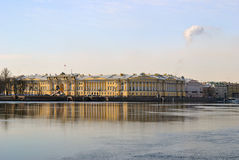 St. Petersburg Admiralty Embankment Royalty Free Stock Image