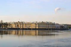 St. Petersburg Admiralty Embankment Royalty Free Stock Image