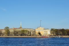 St. Petersburg, Admiralty Embankment Stock Photos