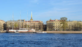 St. Petersburg, Admiralty Embankment Stock Images