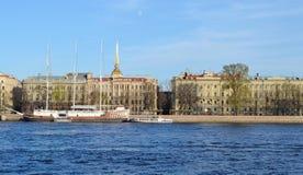 St. Petersburg, Admiralty Embankment Stock Images