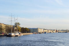 St. Petersburg, Admiralty embankment Stock Photography