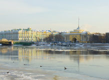 St. Petersburg, Admiralty and Winter palace Royalty Free Stock Images