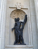 St. Petersburg. Andrey Pervozvannogo's statue at the Kazan cathe. Dral Stock Photography