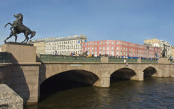 St. Petersburg, Anichkov bridge Royalty Free Stock Images