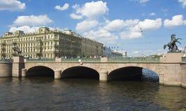 St. Petersburg, Anichkov bridge Royalty Free Stock Photography