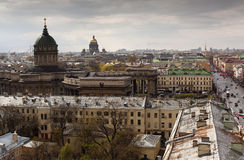 St Petersburg Ansicht der Stadt vom Spitzenpunkt Russland Stockfotos