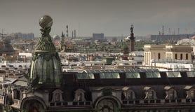St Petersburg Ansicht der Stadt vom Spitzenpunkt Russland Lizenzfreie Stockbilder