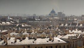 St Petersburg Ansicht der Stadt vom Spitzenpunkt Russland Stockbilder