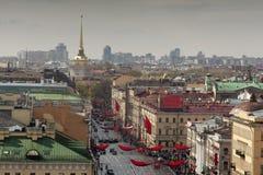 St Petersburg Ansicht der Stadt vom Spitzenpunkt Russland Lizenzfreie Stockfotografie