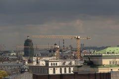 St Petersburg Ansicht der Stadt vom Spitzenpunkt Russland Lizenzfreie Stockfotos