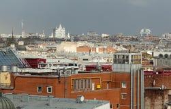 St Petersburg Ansicht der Stadt vom Spitzenpunkt Russland Stockbild