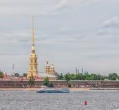 St Petersburg Ansicht von Neva River auf Peter und Paul Fortr Stockfoto