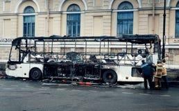 St Petersburg architektury autobusu ogienia zakończenia historii budynku architektury outdoors miasta okno Obraz Stock