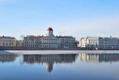 St Petersburg. Argine di Malaja Neva Fotografie Stock Libere da Diritti