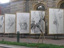 St Petersburg, arte de la calle Imagenes de archivo