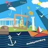 St Petersburg attribut stock illustrationer
