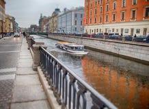 St Petersburg barca Fotografia Stock Libera da Diritti
