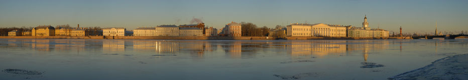 St. Petersburg. Beatiful panorama. Beatiful big panoramic view of St. Petersburg Royalty Free Stock Photography