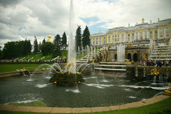St.Petersburg. Beautiful classical garden Stock Photo