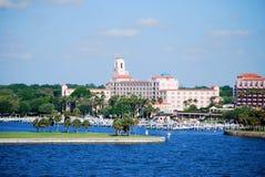 St Petersburg, beira-rio de Florida Fotos de Stock Royalty Free