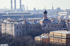 St. Petersburg from bird's-eye view Stock Image