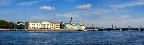 St Petersburg blu Fotografie Stock