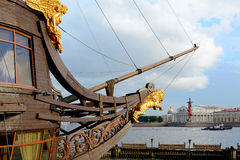 St. Petersburg, the bowsprit of the frigate Royalty Free Stock Photo