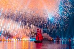 St Petersburg, brigantino svedese Tre Krunur di Russia-giugno 23,2018 sopra immagini stock