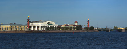 St Petersburg Broche de panorama de Vasilyevsky Island Photos libres de droits