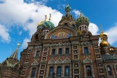St Petersburg, catedral de nosso salvador no sangue derramado fotos de stock royalty free